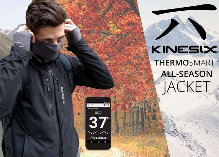 Smart Clothing : Kinesix Smartphone Controlled Heated Jacket