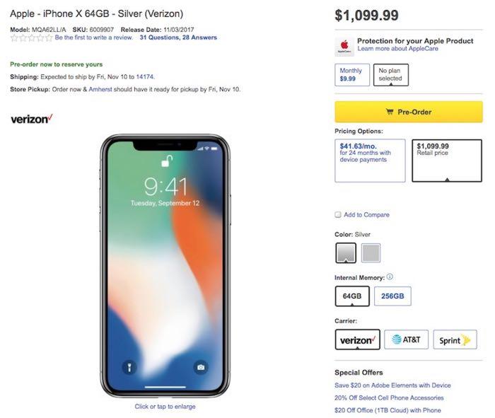 iPhone X Best Buy
