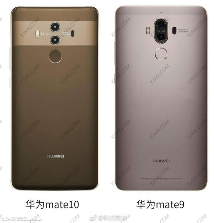 Huawei Mate 10 Pro vs Mate 9 Image Shows Design Changes