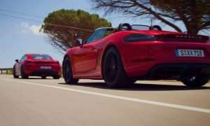 Porsche 718 Cayman GTS  And 718 Boxster GTS Go For A Spin (Video)