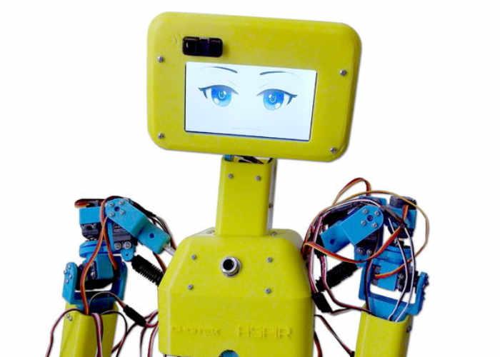 Aspir arduino life size humanoid robot geeky gadgets