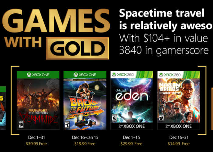Free Xbox Games For Gold Members