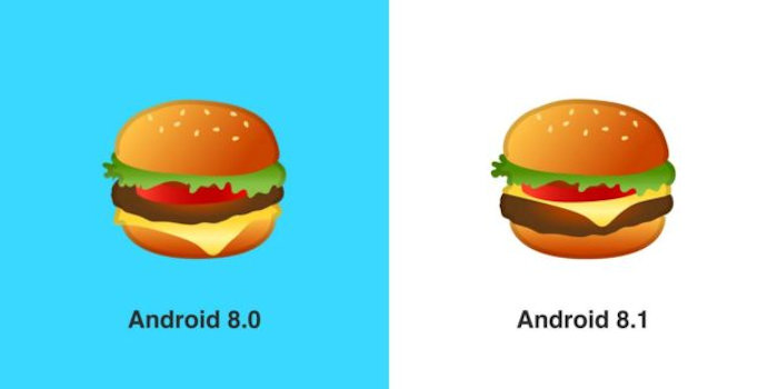 Google keeps word, fixes burger emoji