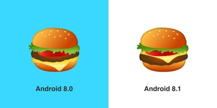 Google Fixed the Cheese on the Cheeseburger Emoji in Android 8.1