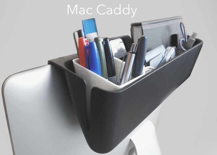 Mac Caddy For iMac Keeps Your Desk Clear