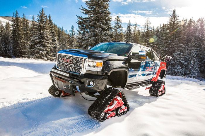 GMC Sierra All Mountain Concept Trades Tires for Tank ...