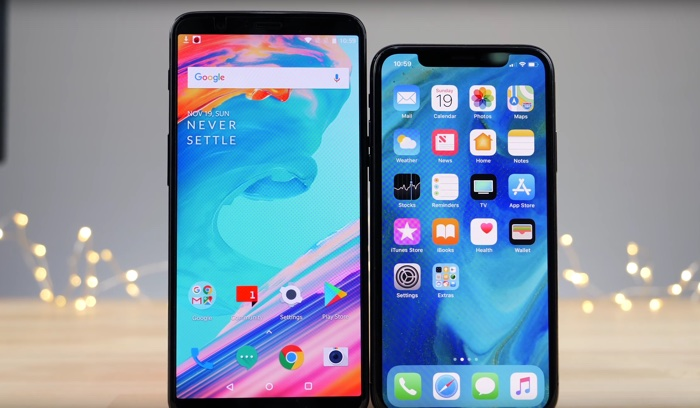 Phone X vs OnePlus 5T
