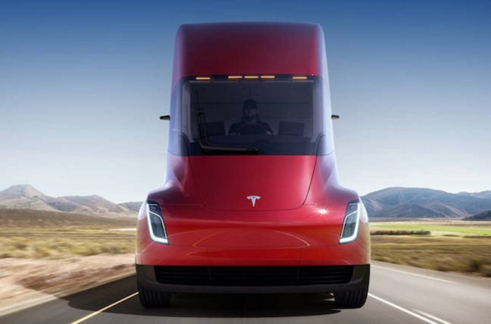 Announced the approximate price of the electric Tesla truck Semi