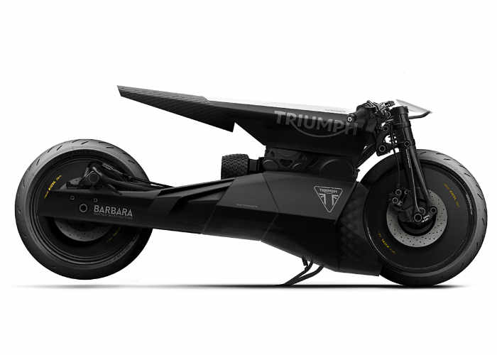 Barbra Custom Motorcycles Black Matter Motorcycle