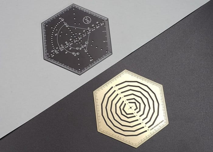 Hexagonal ruler