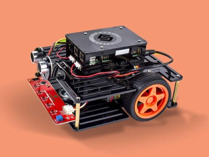 Raspberry Pi 3 + Speech Controlled Smart Robot Car Kit