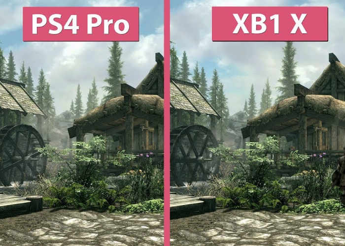 skyrim 4k xbox one x 15 minutes of gameplay geeky gadgets