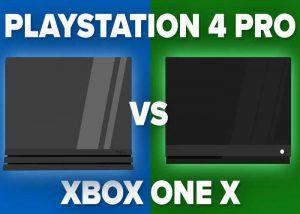 Xbox One X vs Playstation 4 Pro