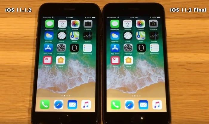 iOS 11.2 vs iOS 11.1.2
