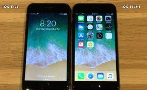 iOS 11.2 vs iOS 11.2.1 Speed Test (Video)
