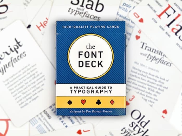 Design and Font Deck Playing Cards