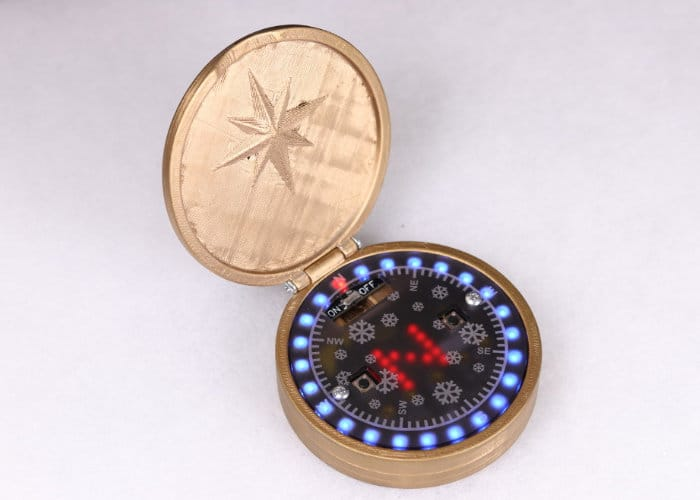 DIY BBC Microbit ZIP Halo Compass
