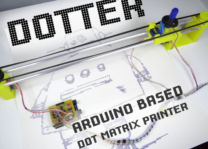 Dotter Arduino Dot Matrix Printer