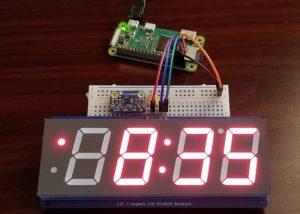 Raspberry Pi Zero Clock And Temperature Monitor Project