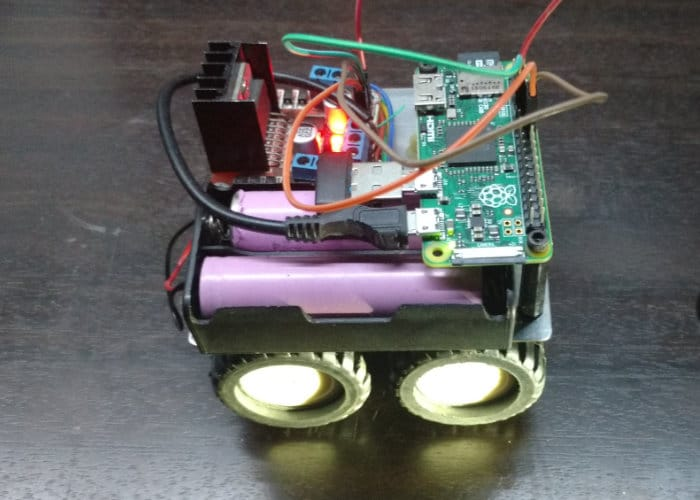 Tiny Raspberry Pi Remote Controlled Truck