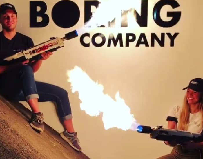 Boring Company Flamethrowers