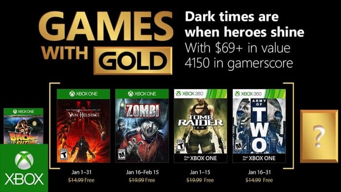 Free Xbox Games With Gold January 2018 Now Available