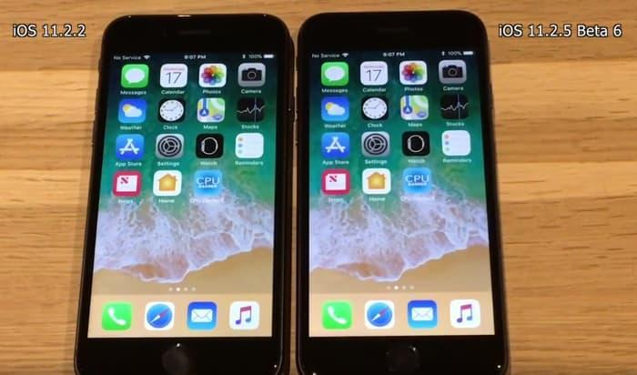 iOS 11.2.2 vs iOS 11.2.5 Beta 6