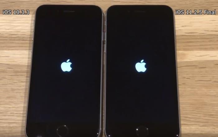 iOS 10.3.3 vs iOS 11.2.5