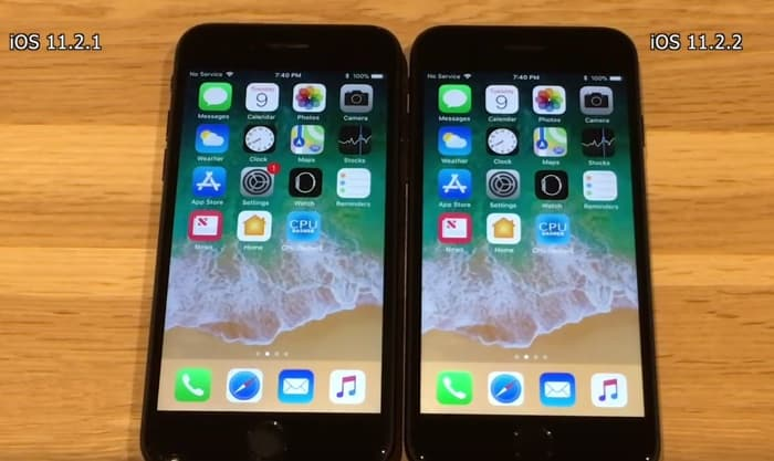 iOS 11.2.2 vs iOS 11.2.1