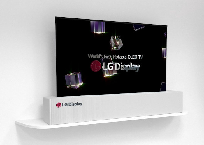 LG Display's crazy 65-inch OLED TV can roll up like a poster