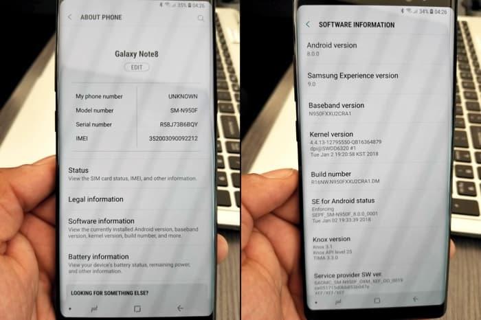 A few Samsung Galaxy S9 and Galaxy S9
