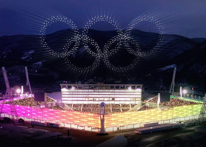 2018 Winter Olympics 1,200 Drone Show