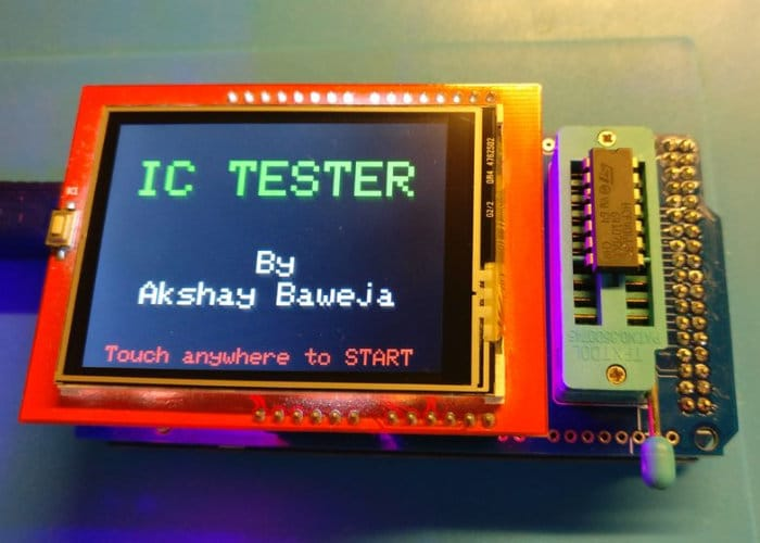 Arduino Automated IC Testing Created Using Arduino Mega