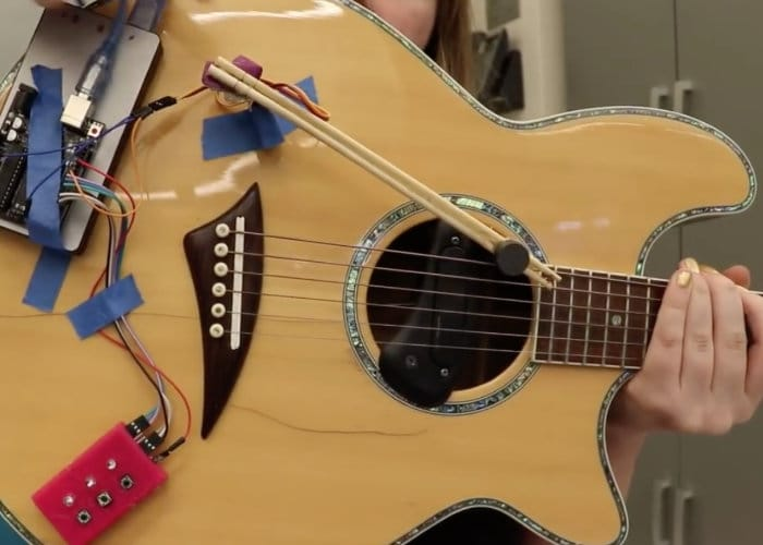 Automatic Guitar Strummer Uses Chopsticks And Arduino