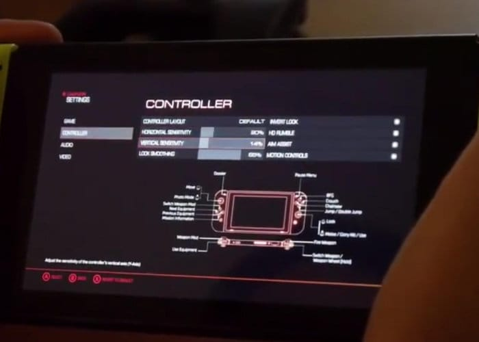 DOOM motion controllers Nintendo Switch