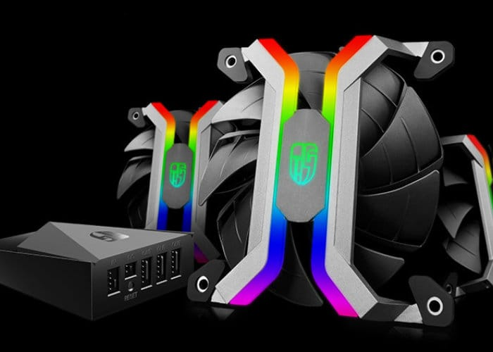 Deepcool MF 120 Aluminum Frameless Smart RGB Fan Set