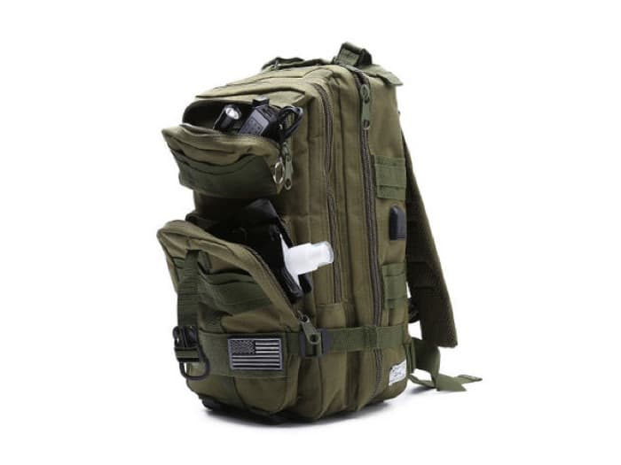 Fully Loaded Tactical Military Style Backpack