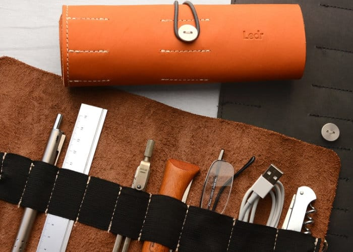 Ledr Tool Roll Perfect For All Your Small Gadgets, Pens, Cables And More