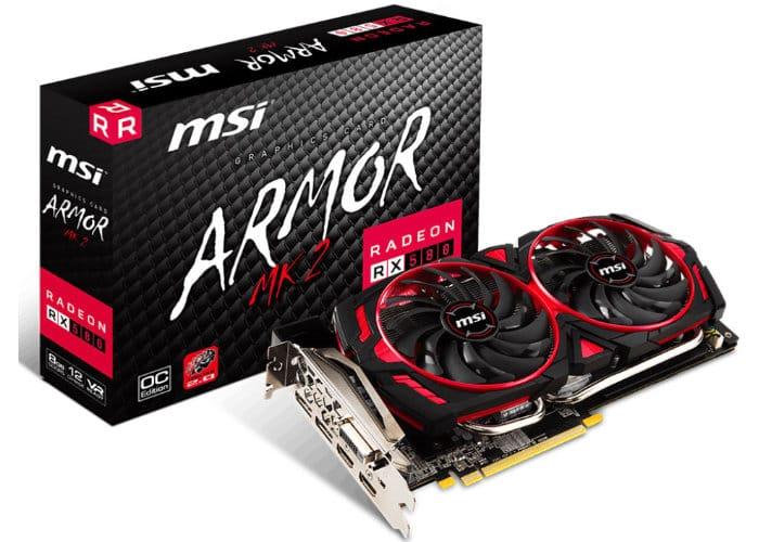 MSI Radeon RX 580 Armor MK2 Graphics Card