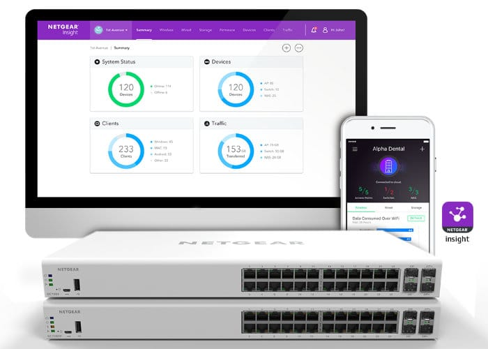 NETGEAR Insight 28-Port Smart Cloud Switches