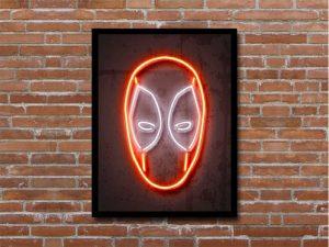 Octavian Mielu Neon Illusion Wall Art (Deadpool 12×16), Save 20%