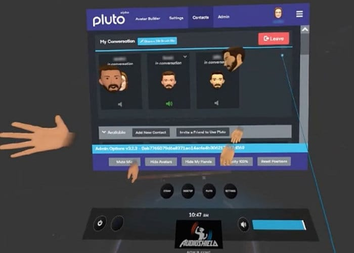 Pluto VR Chat App