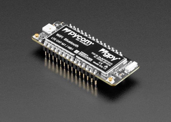 Pycom GPy WiFi, Bluetooth LE And LTE-M Board