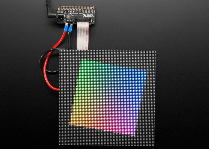 Raspberry Pi RGB Matrix Bonnet Now Available From Adafruit