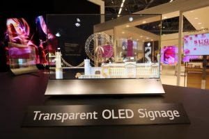 LG Transparent OLED Display Shown Off At ISE