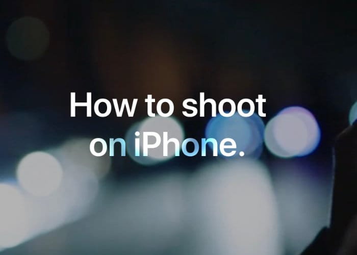 iPhone Photography Tutorials Published By Apple