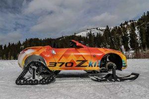 Nissan 370Zki Ditches Wheels for Skis