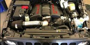 Corvette LS3 V8 Crammed Inside JL Jeep Wrangler