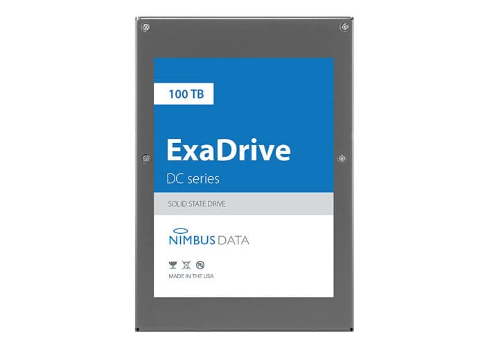 100TB SSD Unveiled, Nimbus Data ExaDrive DC100