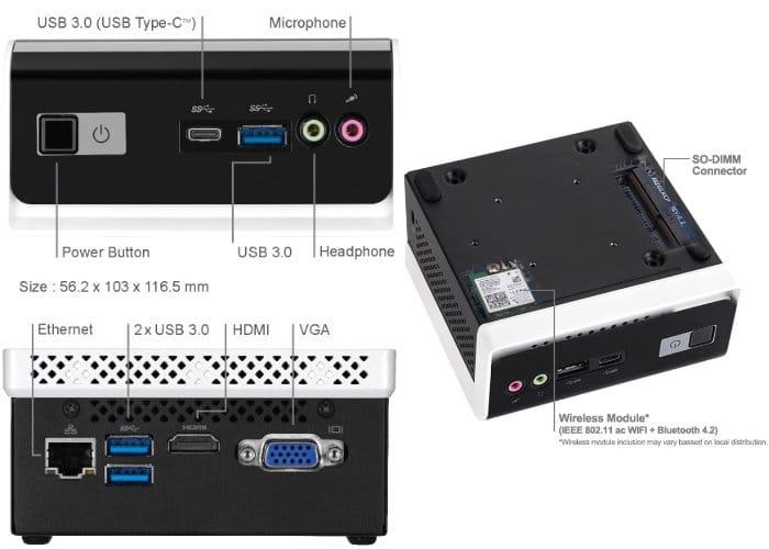 Gigabyte BRIX BLCE-4000C Fanless Mini PC